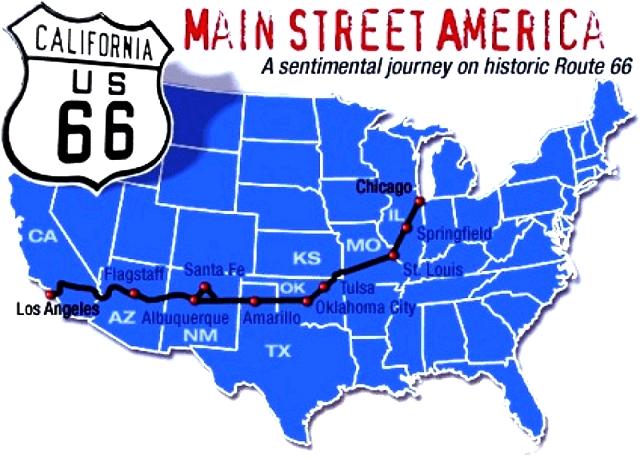 La route 66 américaine